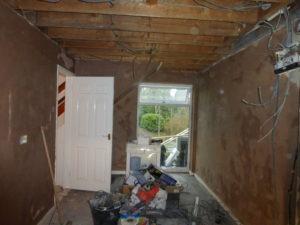 Plastered kitchen walls