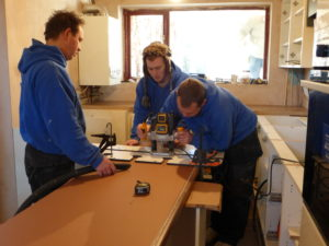 Cutting Worktops with Router