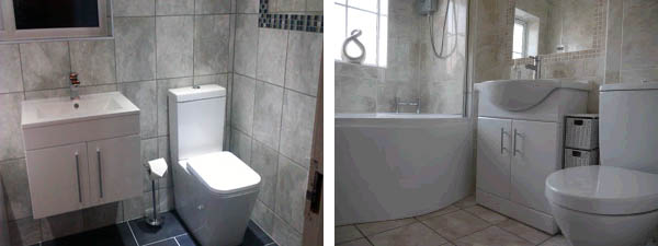 Bathroom fitted in Coventry with storage