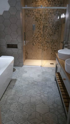 Shower room modern design Warwickshire