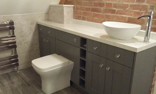 Grey Bathroom Storage Warwickshire