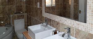Modern Bathroom design twin counter basins