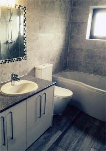 Grey bathroom installed near Coventry