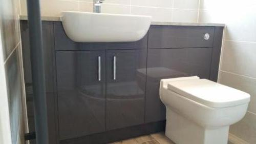 Gloss Grey Fitted Bathroom Furniture