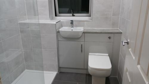 Walk-In Shower with Fitted Bathroom Units