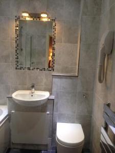 Bathroom installation in hotel.